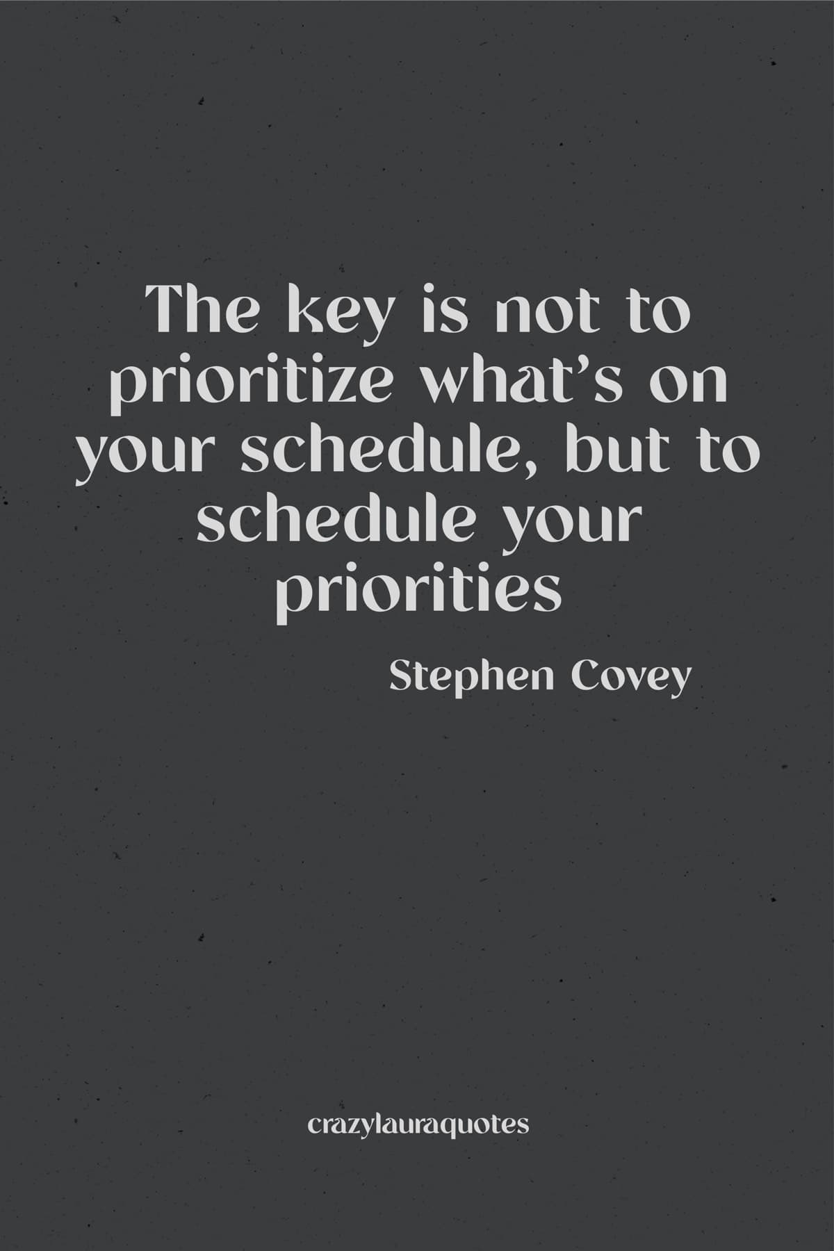schedule your priorites monday motivation