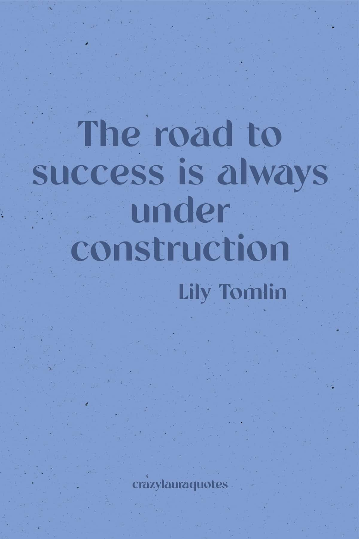 the road to success quote