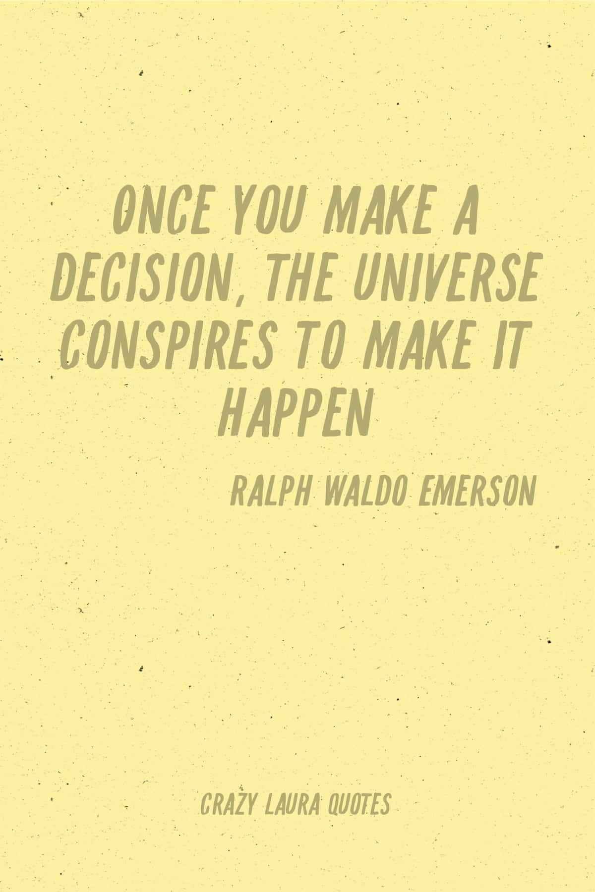 universe quote from ralph waldo emerson