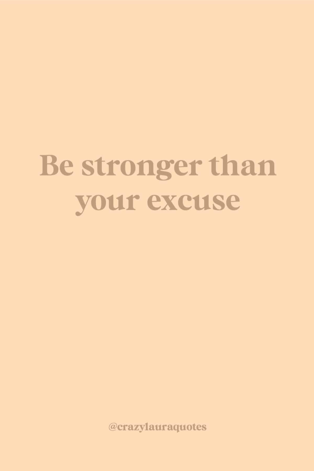 no excuses fitness quote