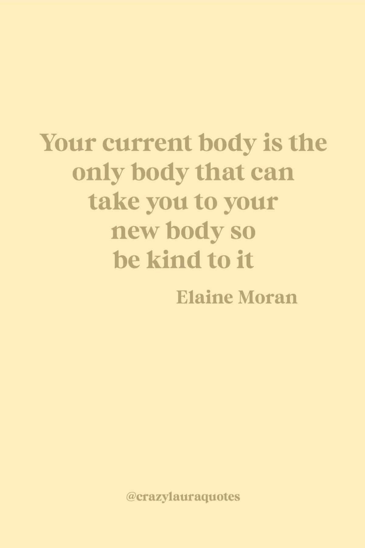 be kind to your body quote