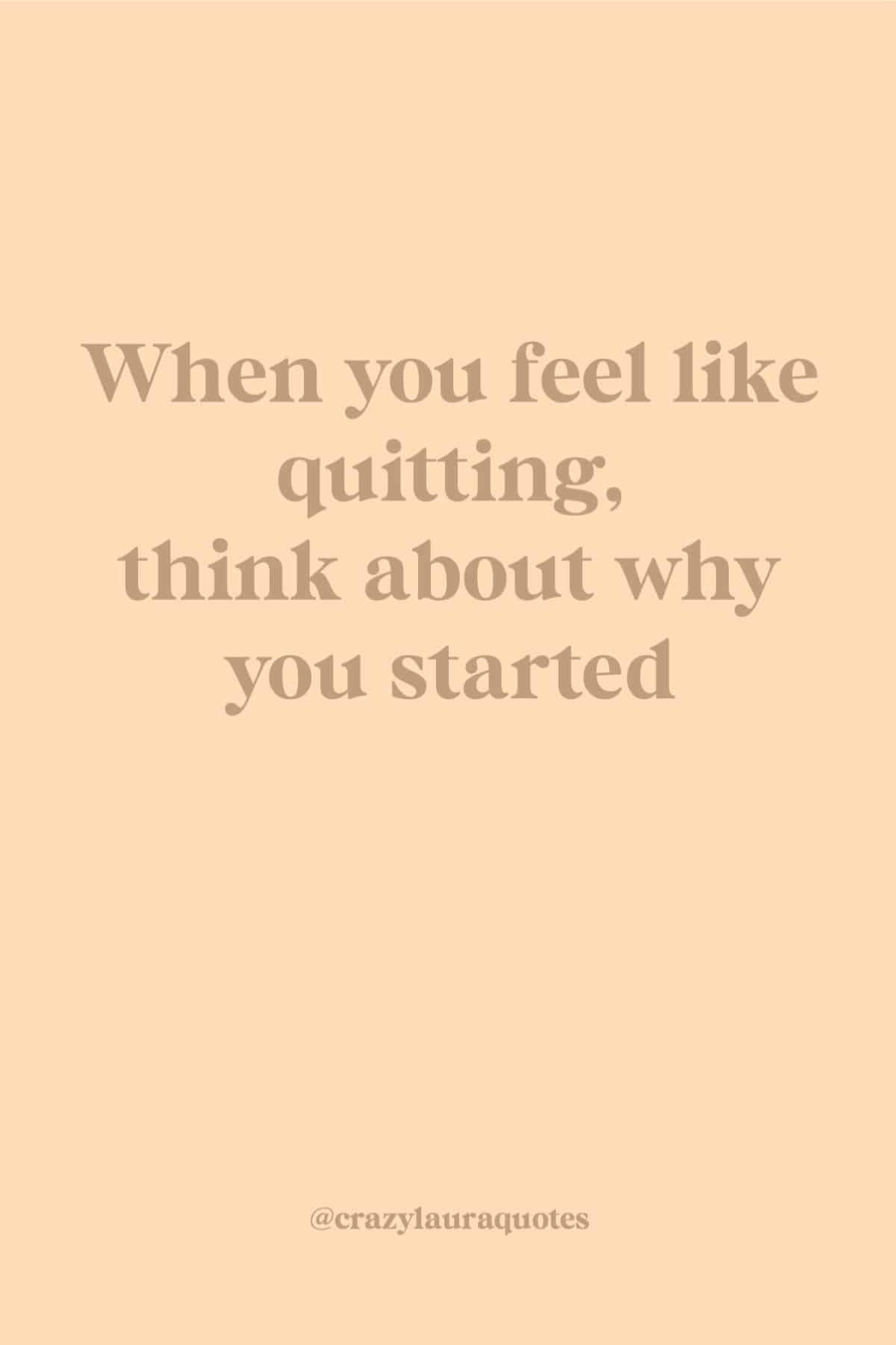 think about why you started fitness quote