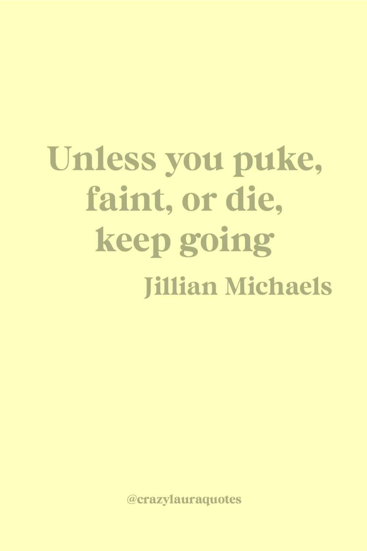 jillian michaels motivational fitness quote