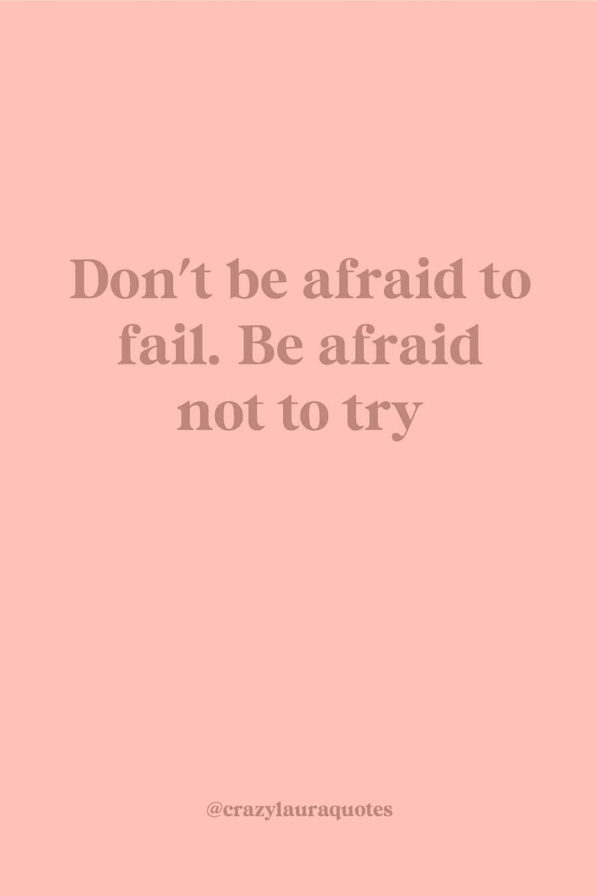 dont be afraid to fail gym quote
