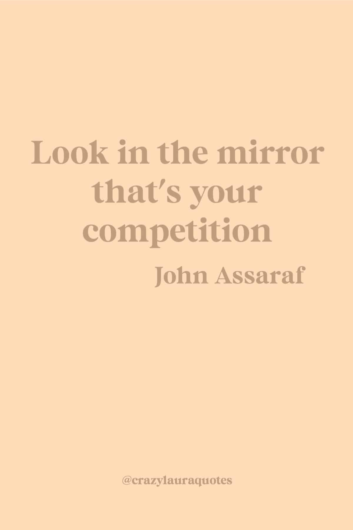 you are your only competition quote