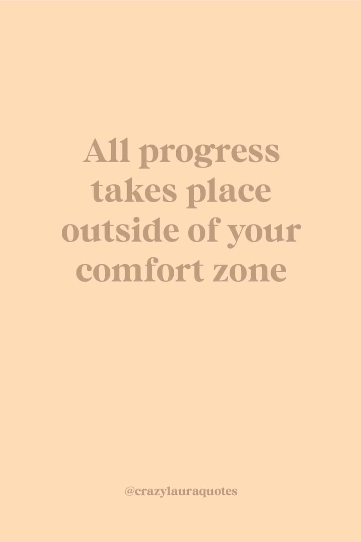 get out of comfort zone fitness quote