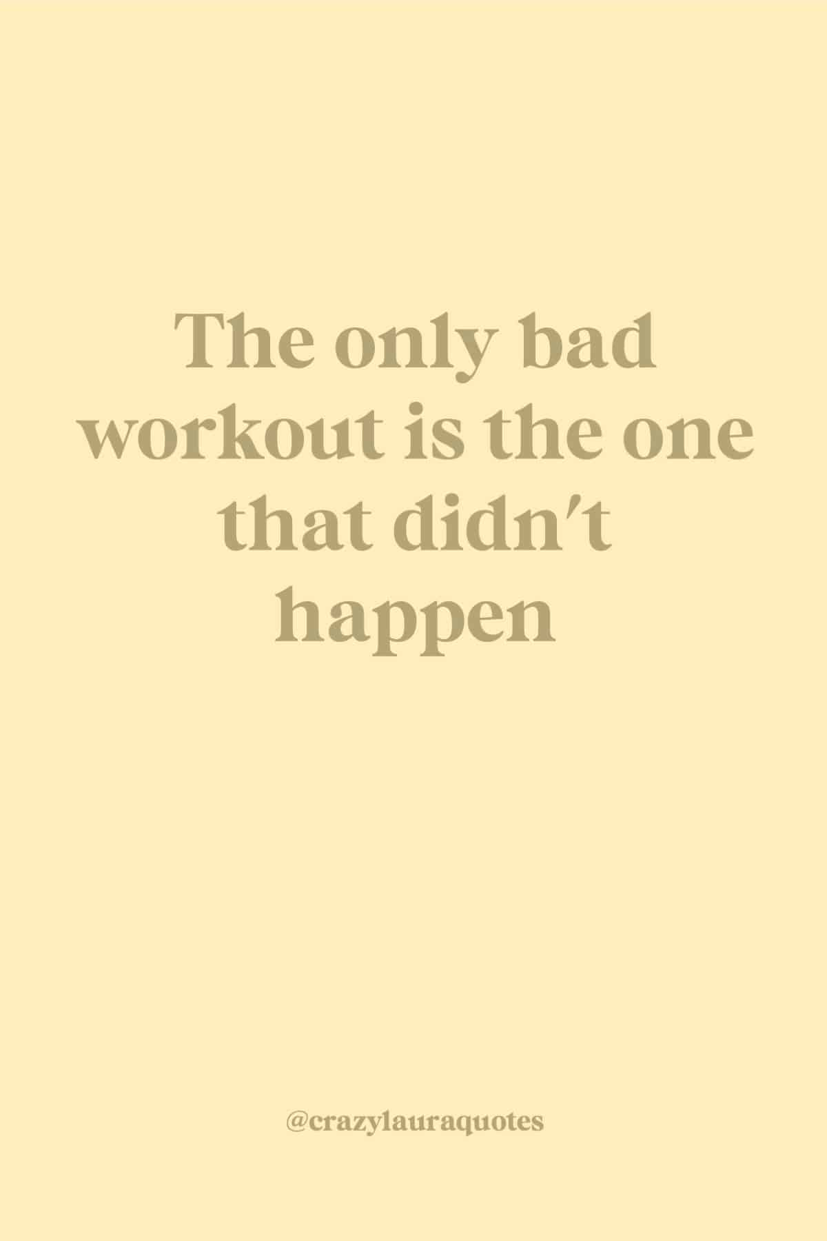 keep working out short quote