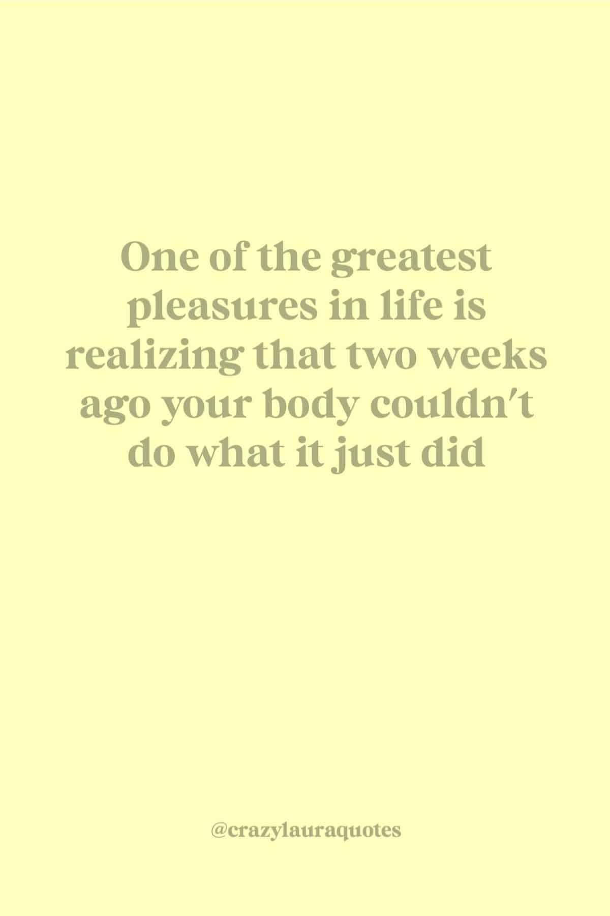 fitness progress quote to motivate