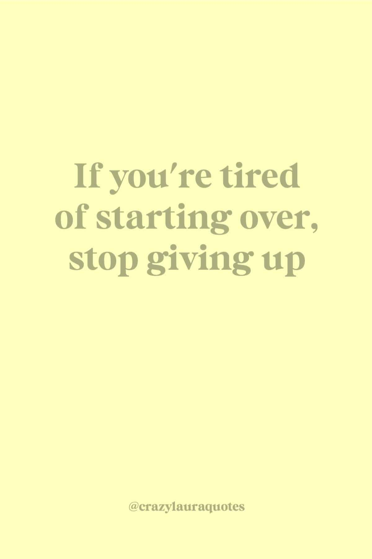 fitness quote about not giving up